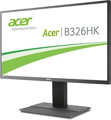 Acer B326HKAymjdpphz 81 cm (32 Zoll) Monitor (DVI, HDMI, USB Hub, UHD 3840 x 2160, Höhenverstellbar, EEK C) dunkelgrau - 3