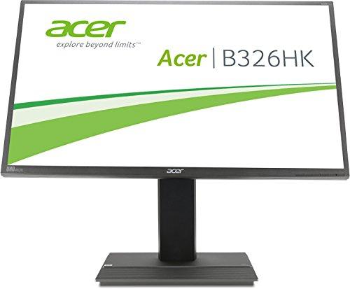 Acer B326HKAymjdpphz 81 cm (32 Zoll) Monitor (DVI, HDMI, USB Hub, UHD 3840 x 2160, Höhenverstellbar, EEK C) dunkelgrau - 4