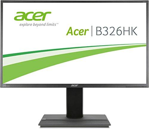 Acer B326HKAymjdpphz 81 cm (32 Zoll) Monitor (DVI, HDMI, USB Hub, UHD 3840 x 2160, Höhenverstellbar, EEK C) dunkelgrau - 1