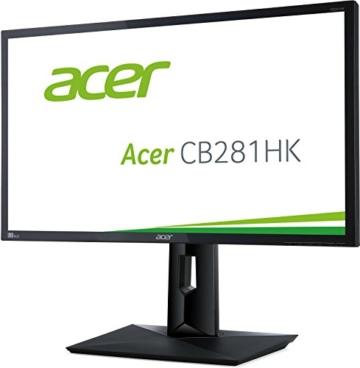 Acer CB1 CB281HKbmjdprx 71 cm (28 Zoll) Monitor (DVI, HDMI 2.0, DisplayPort, höhenverstellbar, Pivot, Ultra HD, 3.840 x 2.160, 1ms Reaktionszeit, EEK C) schwarz - 3