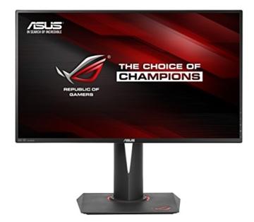 Asus ROG PG27AQ 68,6 cm (27 Zoll) Monitor (HDMI, 4ms Reaktionszeit, 4K/UHD, DisplayPort, Nvidia G-Sync) schwarz - 1