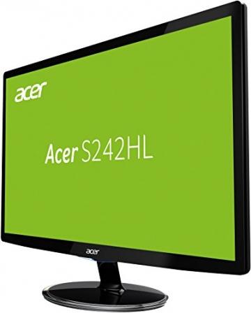 Acer S242HLDBID 60,1 cm (24 Zoll) Monitor (VGA, DVI, HDMI, 1ms Reaktionszeit) schwarz -